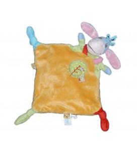 Doudou plat BOURRIQUET Disney rouge vert jaune Elephant - Simba Dickie 587/9756