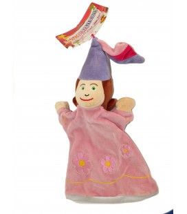Marionnette doudou Fée rose mauve - Il était une fois - CMP - 30 cm