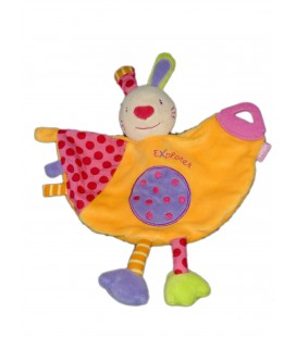 Doudou Lapin Explorer BABYSUN Baby Sun orange - Anneau dentition