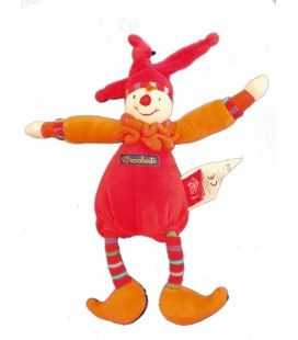 Doudou Hochet Clown lutin - DRAGOBERT - MOULIN ROTY - 26 cm