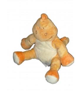 Doudou Peluche DINOSAURE jaune orange - Bengy Amtoys - H 18 cm