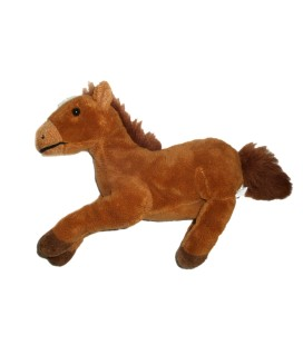 Peluche Doudou CHEVAL Poney marron IMPEXIT (Idem CP International) L 26 cm + queue