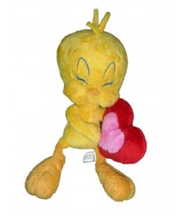 Doudou peluche TITI Coeur - Tweety Plush - H 40 cm - Warner Bros Quiron Famosa