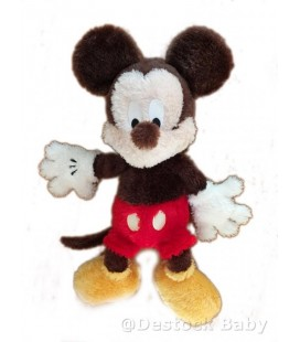 Peluche MICKEY - Longs Poils - Authentique Disneyland Paris - 50 cm