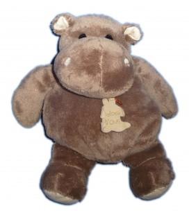Doudou Hippopotame marron Hippo Histoire d Ours 24 cm