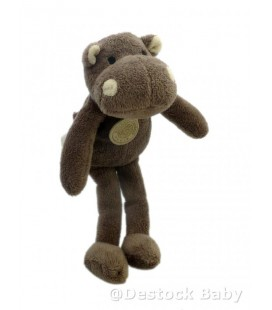 DOUDOU ET COMPAGNIE Hippopotame Roland Garros BNP Paribas 24 cm