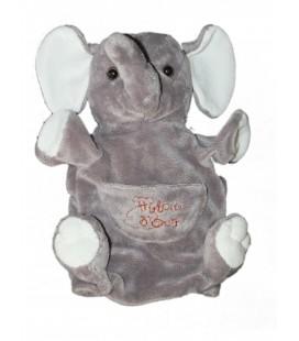 Doudou éléphant gris Histoire d'Ours Marionnette