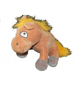 Peluche CHEVAL Poney Marron - Brown Horse Pony Plush - H 30 cm - Tendertoys