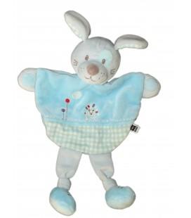 Doudou plat chien Lapin bleu Herisson TEX Baby Carrefour T437171