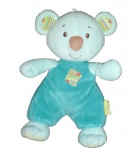 Peluche doudou OURS Koala Panda ZEN bleu SYSTEME U - 24 cm
