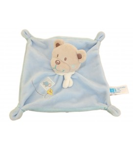 Doudou plat OURS bleeu - Tortue - TEX Baby Carrefour CMI - I509794
