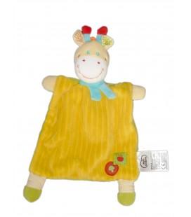Doudou plat girafe Jaune Mots d'Enfants Siplec 579/1960