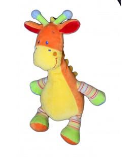 Doudou girafe Mots d'Enfants jaune orange 32 cm 579/0323