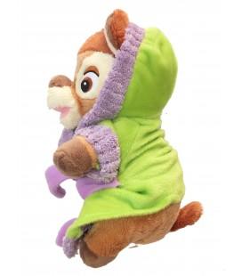 Peluche Doudou BAMBI Peignoir vert Disney Nicotoy Simba 587/6844 H 22 cm