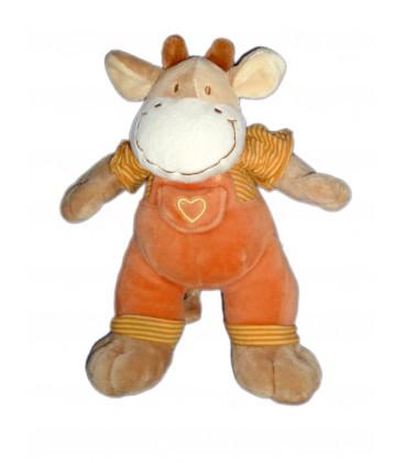 Doudou girafe Vache orange MOTS D'ENFANTS H 24 cm 579/5874