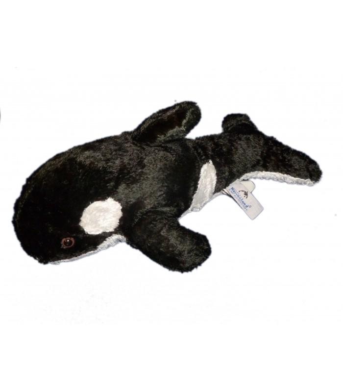 Peluche doudou dauphin orque noir blanc marineland l 38 cm - Tchoupi l anniversaire de doudou ...