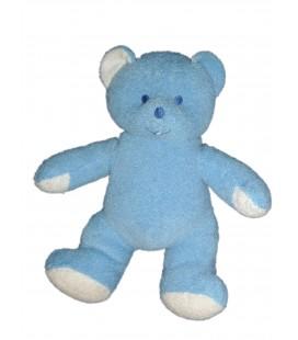 Doudou peluche OURS bleu MUSTI de Mustela 26 cm