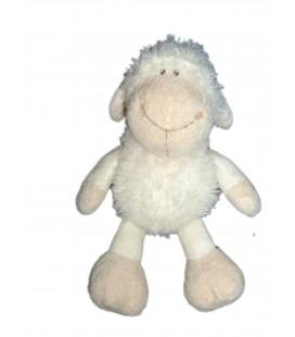 Doudou peluche mouton agneau Blanc Nici 26 cm