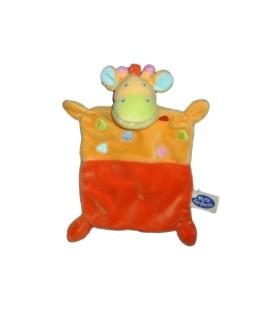 Doudou plat girafe jaune orange MOTS D'ENFANTS 579/9960
