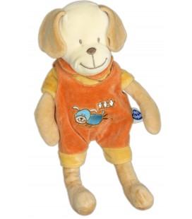 Doudou CHIEN Orange - MOTS D'ENFANTS Siplec - H 30 cm