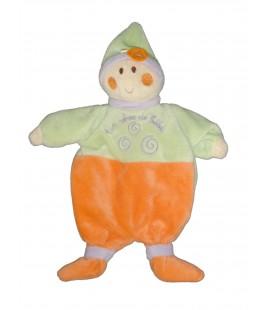 Doudou Marionnette Lutin Vert orange - Un Rêve de Bébé - CMP