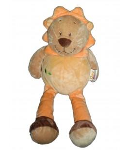 Doudou Peluche LION orange beige DOU KIDOU Jogystar H totale 40 cm