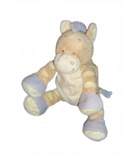 Doudou CHEVAL beige mauve - BENGY Amtoys - H 23 cm