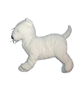 IKEA - Doudou peluche CHIEN blanc - White dog Plush - L 32 cm