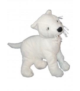 IKEA - Doudou peluche CHIEN blanc - RUFFIG White dog Plush - L 40 cm
