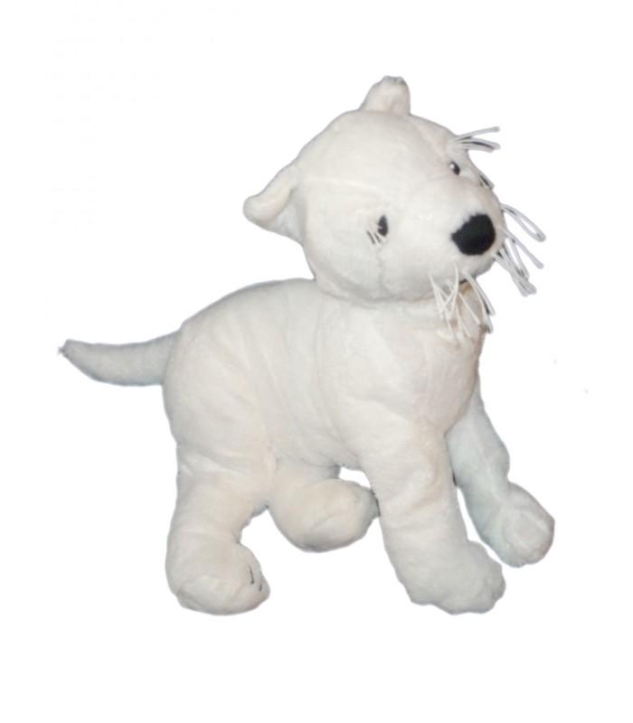 ikea doudou peluche chien blanc ruffig white dog plush l 40 cm. Black Bedroom Furniture Sets. Home Design Ideas
