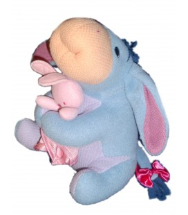 Peluche doudou BOURRIQUET et son doudou Lapin rose FISHER PRICE 22 cm