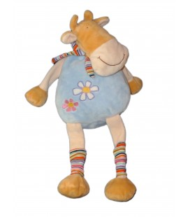 Doudou peluche Vache Bleue - BREMEL - Bleue cow Plush - 45 cm - CP International
