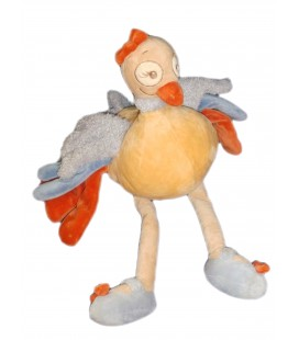 Doudou peluche Oiseau Autruche Sissi NOUKIES Noukie's - GD Mod. H 55 cm