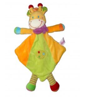Doudou plat Girafe jaune vert Pommette Nr196868