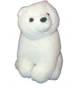 Doudou Peluche OURS Polaire - blanc H 20 cm - CMP