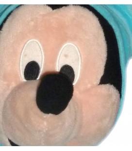 Doudou peluche MICKEY pyjama grenouillère bleue turquoise Disney Simba Dickie Nicotoy 45 cm
