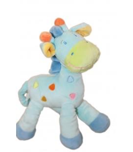Doudou girafe bleue Mots d'Enfants Siplec Leclerc 25 cm 579/6098