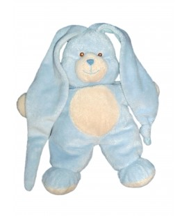 Doudou peluche LAPIN bleu GIPSY - H 26 cm