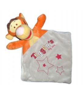 Doudou plat Tigrou Tigger's Toy Box Gris orange Disney Nicotoy Etoile
