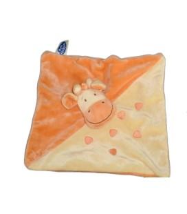 Doudou plat GIRAFE jaune orange MOTS D'ENFANTS Siplec Leclerc579/5821