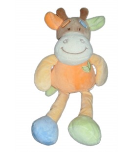 Doudou VACHE Orange Feuille TEX Baby Carrefour H 30 cm
