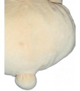Peluche doudou OURS Tonton jaune beige clair crême NOUKIES Noukie's H 40 cm