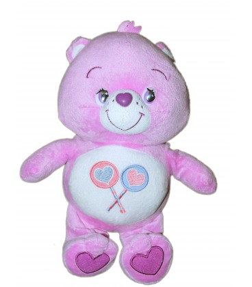 Peluche Bisounouirs mauve Groscadeau Care Bear 2 sucettes Whitehouse 32 cm