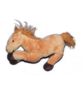 Doudou peluche CHEVAL Poney marron - L 26 cm + queue - CP International