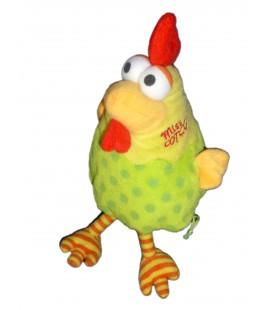 Doudou peluche POULE jaune vert Miss Cot Cot - FIZZY - H 24 cm