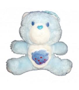 VINTAGE Doudou peluche BISOUNOURS bleu nuage CARE BEARS Grognon Grognours Grumpy Bear Kenner 16 cm