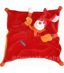 Doudou plat Lutin Clown rouge orange DRAGOBERT - MOULIN ROTY