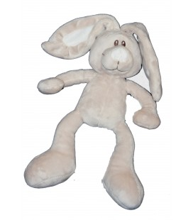 Doudou lapin gris Kimbaloo La Halle 24 cm