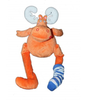 Peluche RENNE Cerf élan IKEA orange Chaussette Barnslig alg Moose Reindeer