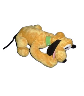 Peluche PLUTO allongé - Authentique Disneyland Paris Disney Store - L 32 cm